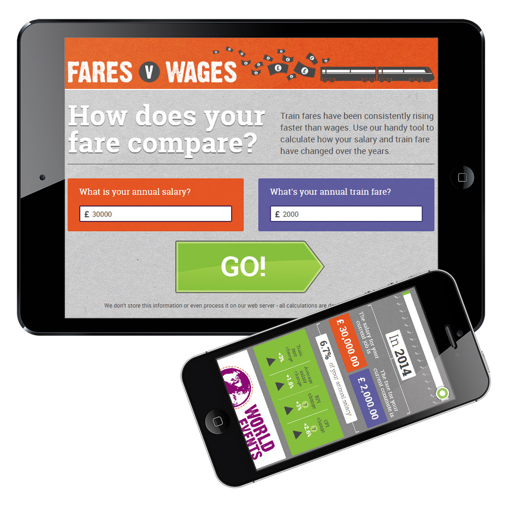 Fares v Wages – mobile optimised